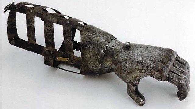 La mano de hierro de Götz von Berlichingen (1480-1562