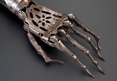 Prótesis antigua de mano 1850-1910