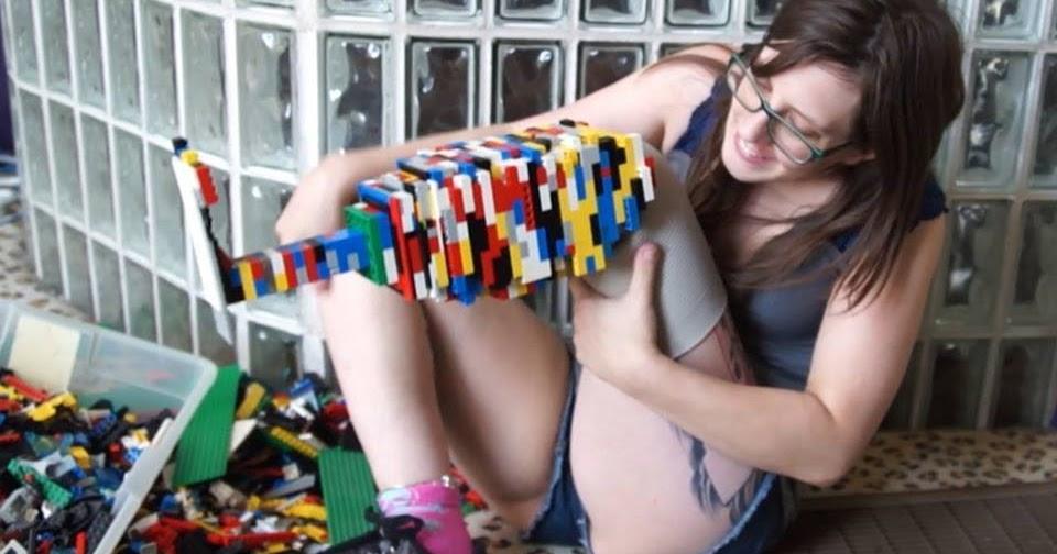 Prótesis para pierna con fichas de lego