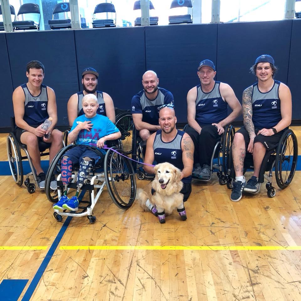 Equipo Rugby en silla de ruedas de Australia
