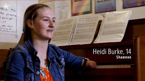 Heidi Burke de 14 años