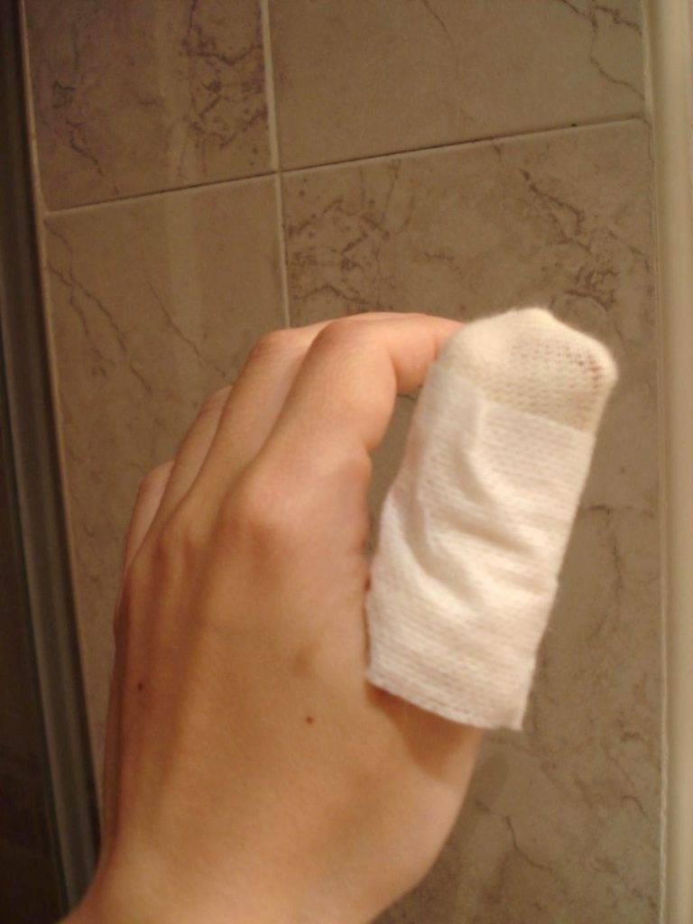 Curación del dedo